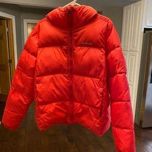 Red women's Columbia coat